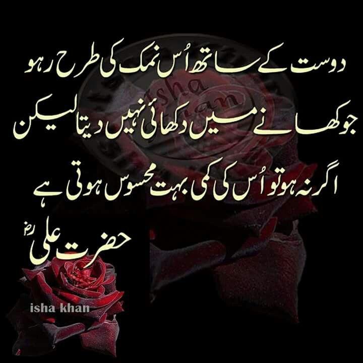 ... Friendship Quotes In Urdu on Pinterest Hazrat ali, Urdu quotes and