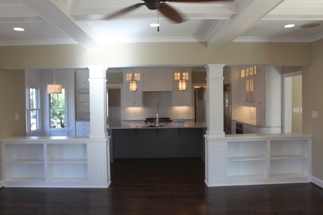 Half Wall Room Divider Ideas Traditional Living Room By Ellington Homes Llc Room Dividers