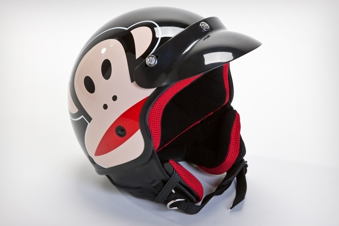 Keeping noggins safe and doing it with style! Paul Frank Julius Moto Helmet