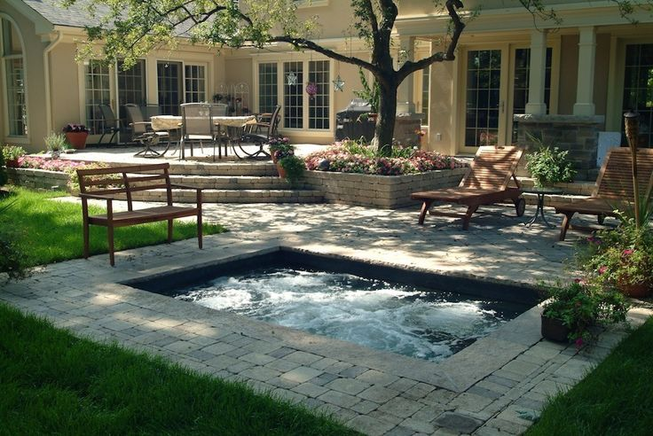 Patio Pavers Venice Fl : Plunge pool designs small and backyard