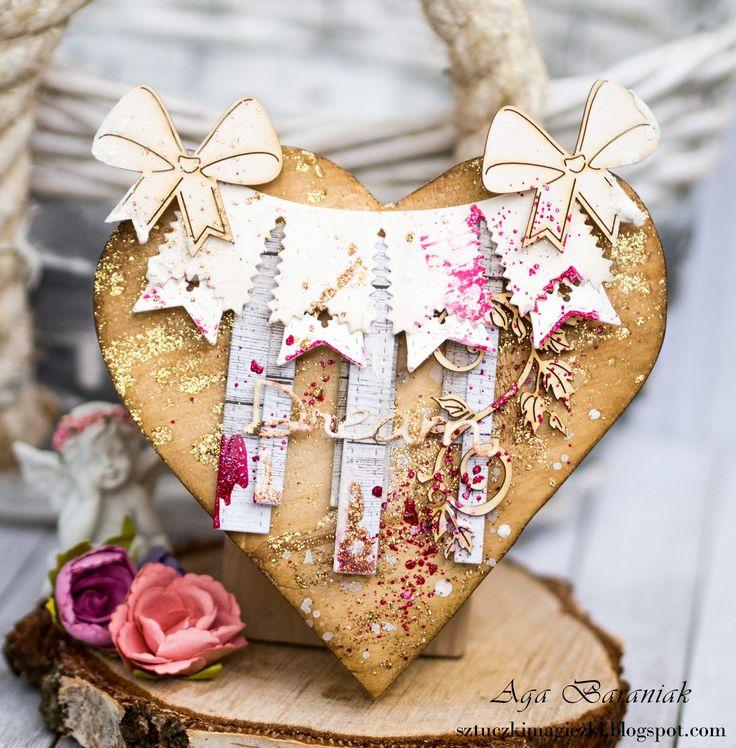 La La Land Crafts / drewniane serce