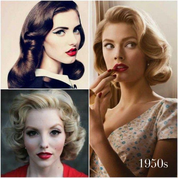 Vintage Hairstyles with big waves & curls