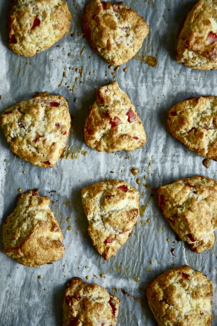 strawberry and white chocolate scones - pure berry and cream perfection….