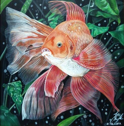 Картины (живопись) : Золотая рыбка.