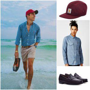 men summer vacation outfit dubai dress code flip flops shirt loafer