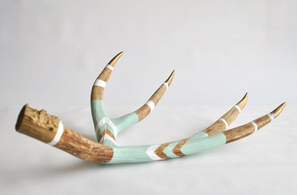 painted chevron antler