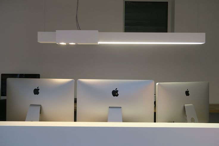 illum kunstlicht - METROFFICE 1 S DARK® #lighting #architecturallighting #led #dark #suspended #white #homeoffice #boelaert #metroffice dark.be