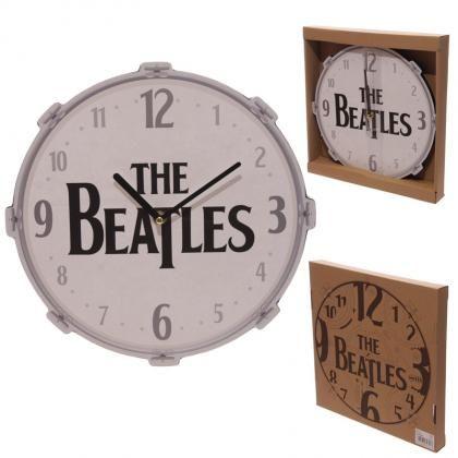 Nástěnné hodiny The Beatles ve tvaru bubnu, licencovaný #design #Puckator #TheBeatles
