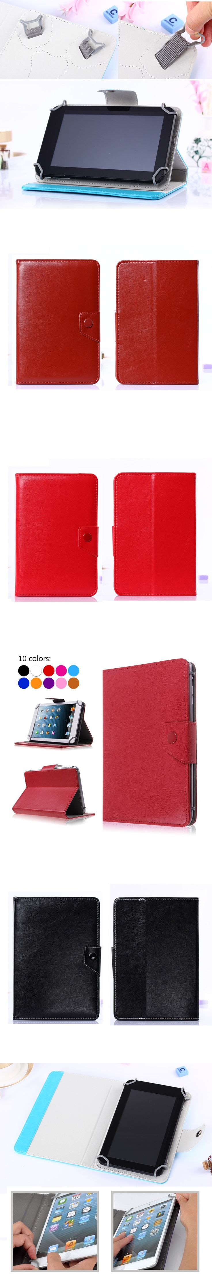 For 7 inch Tablet ASUS Google Nexus 7 Universal Tablet PU Leather Book Cover Case for sus Zenpad Z170+Free Stylus+Center Film