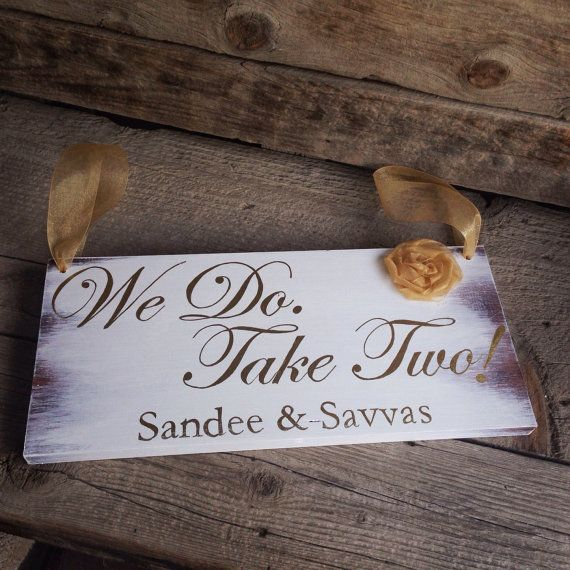 Vow Renewal Sign  Rustic Ring Bearer Sign  by MoreThanLace on Etsy