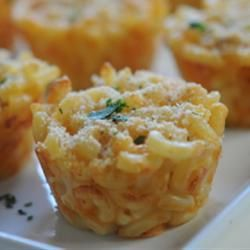 "Easy Mac and Cheese Muffins | ""What a great idea! Served these at my 2 y.o. b-day party. Perfect for tiny hands."""