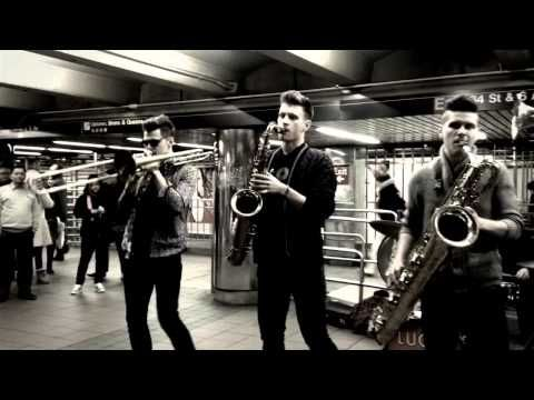 Lucky Chops @ NYC Metro Station - YouTube