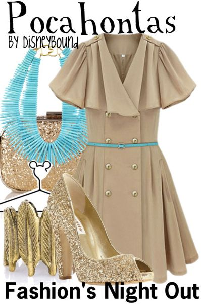 "Fashion's Night Out. Disney Princess ""Pocahontas""-inspired outfit. 