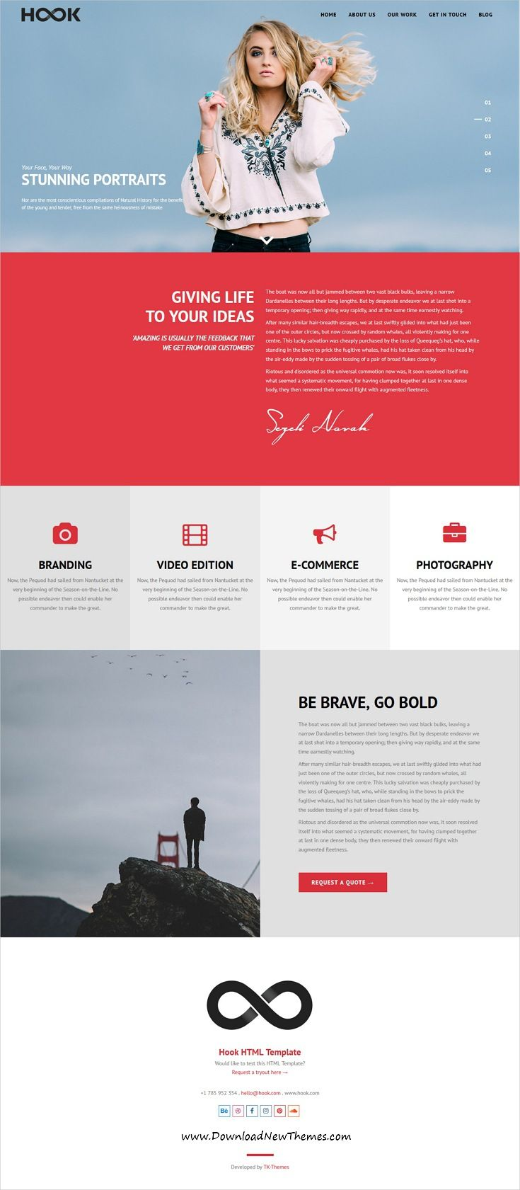 Hook is clean and modern design responsive multipurpose bootstrap HTML #template for creative #agency website with 21+ niche homepage layouts to live preview & download click on Visit  #webdevelopment