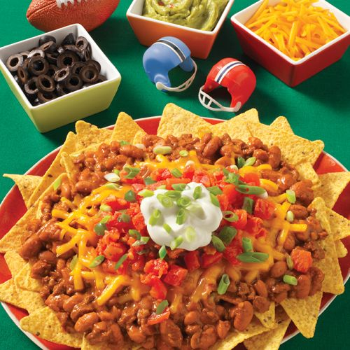 Cowboy Nachos: Zesty nachos with a hearty flavor big enough to be a meal