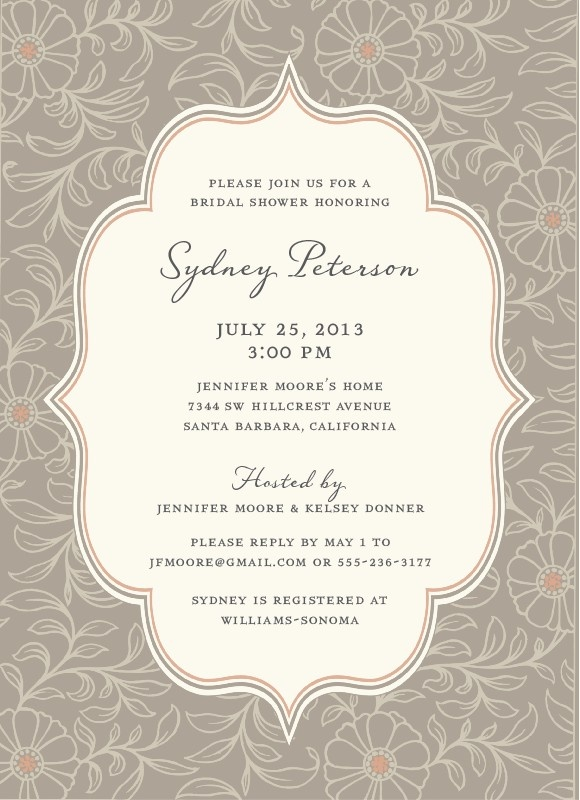 17 Best images about Bridal shower invitations – When to Mail Wedding Shower Invitations