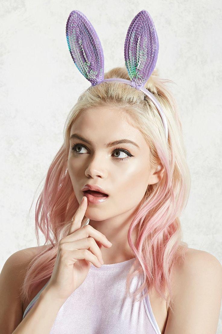 Sequin Bunny Ear Headband