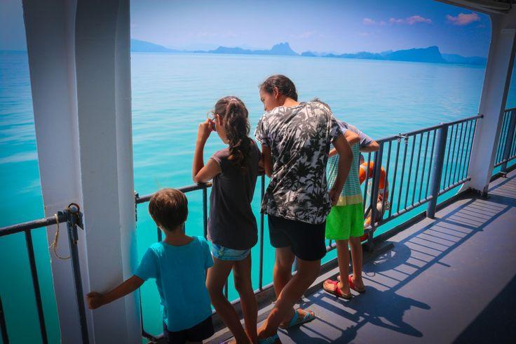 Seatran Ferry Views Back To Donsak Pier