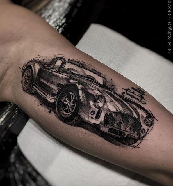 Shelby Cobra tattoo by Felipe Rodrigues Fe Rod
