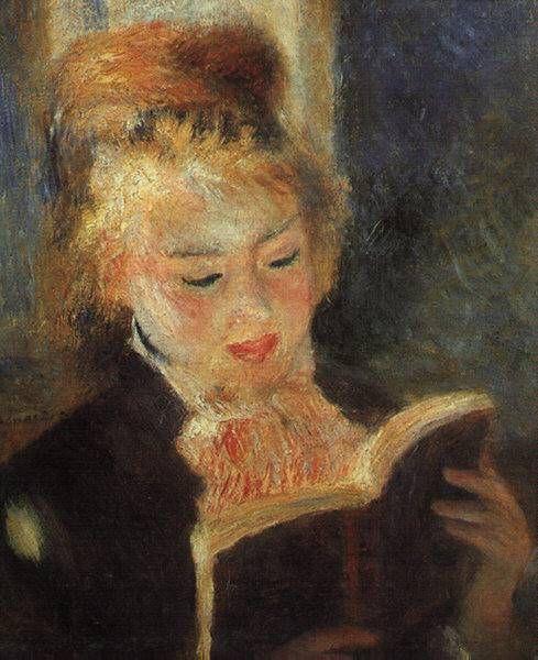 책 읽는 소녀_르누아르