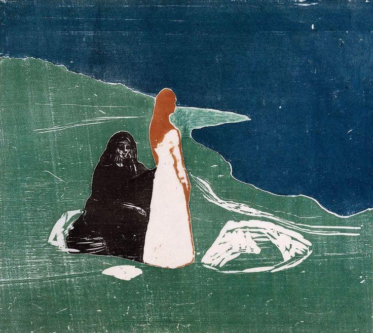 Эдвард Мунк. Две женщины на берегу