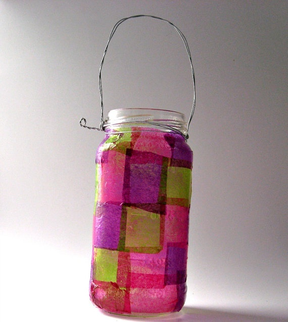 Tissue paper Candle holders