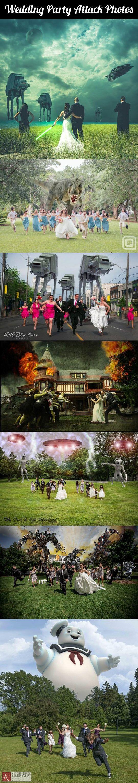 Wedding party attack photos.