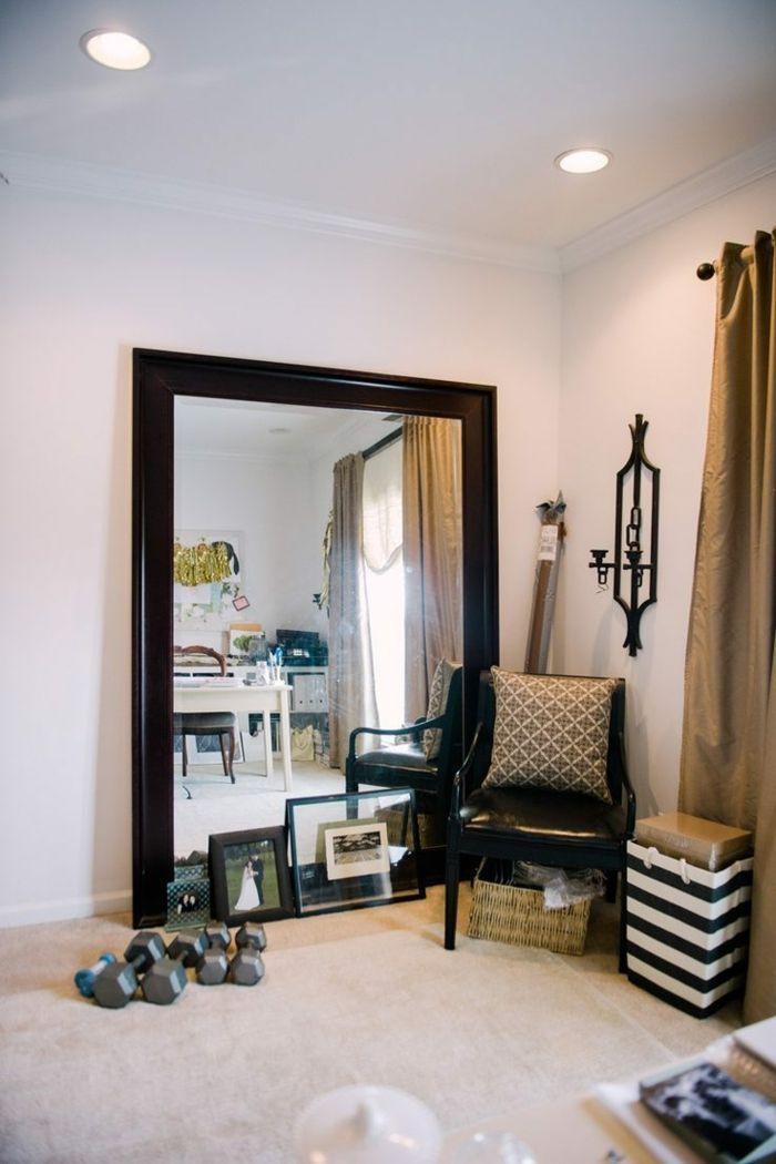 M s de 25 ideas incre bles sobre espejos con marco en for Espejos con marco de madera blanco