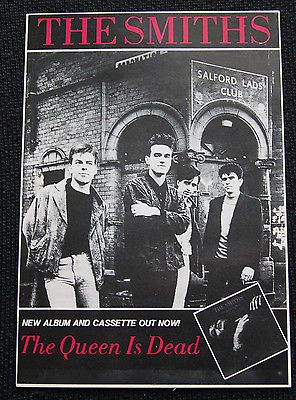 """Vintage The Smiths """" The Queen Is Dead"""" Promotional Postcard"""
