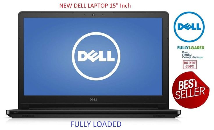 "NEW Dell Laptop 15.6"" Notebook Webcam DVD+RW Windows 10 500GB 4GB (FULLY LOADED) #Dell"