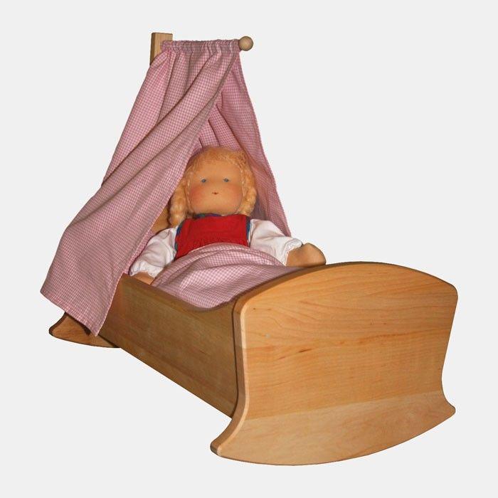 Puppenwiege aus Holz