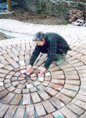 Build a circular brick patio.