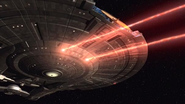 Enterprise NX-01 firing phase cannons
