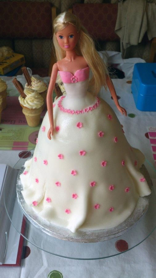 Best Cakes Doll Images On Pinterest Barbie Cake Doll - Birthday cake doll princess