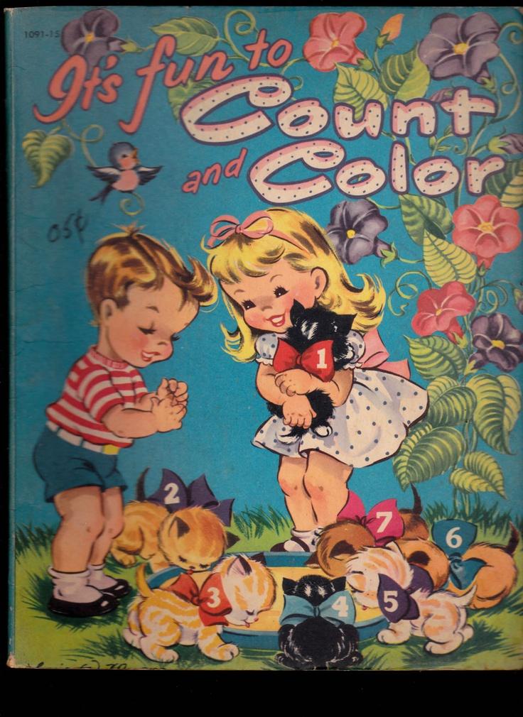 246 Best Old Vintage Coloring Books Images Book Cover Illustration Its