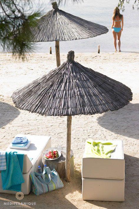 The beach at the Ekies Hotel in Halkidiki, Greece