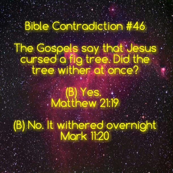 no contradictions in the bible It's my job, as the investigator, to determine why the eyewitnesses appear to  contradict one another, even though there is no doubt the event.