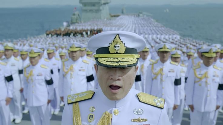 Thai Royal Anthem performed by the Royal Thai Navy on H.T.M.S. Chakri Naruebet for the late King Rama IX of Thailand