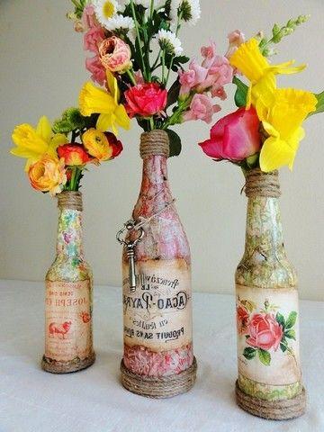 Вазы из стеклянных бутылок своими руками: мастеркласс + 24 фото | Из подручных материалов | DecorWind.ru