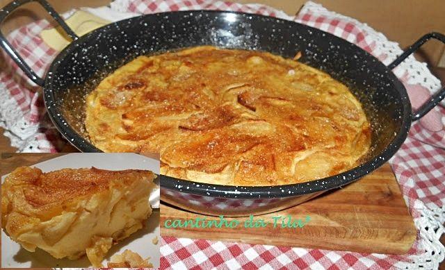 Tarte de maçãs na frigideira - http://www.sobremesasdeportugal.pt/tarte-de-macas-na-frigideira/
