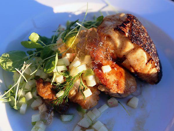 Torsk med äpple och fläder   Recept från Köket.se