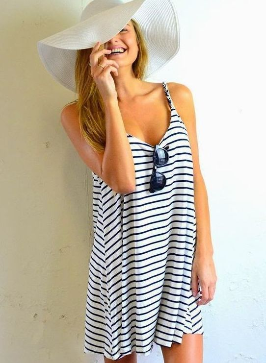 what to wear on vacation chic summer stripped dress is the best choice to try this summer