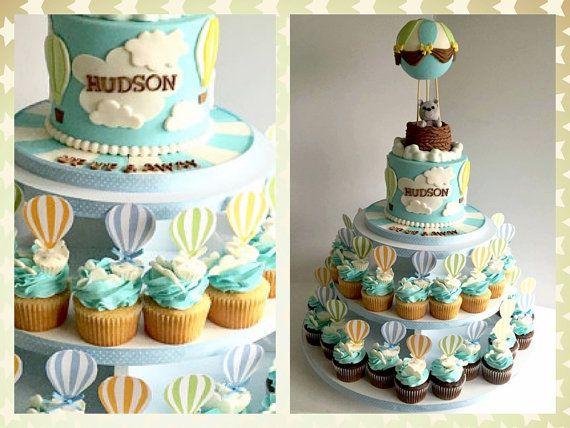 Hot Air balloon cupcake toppers food picks party picks party decor – Joyce Meira