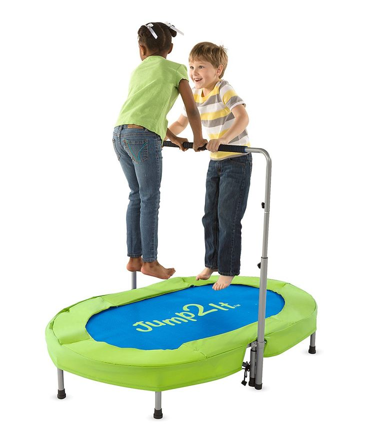 Take a look at this Blue & Green Jump 2 It Trampoline