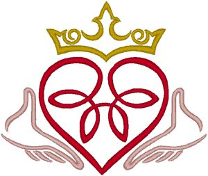 Celtic Claddagh 2 Embroidery Design
