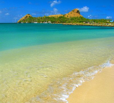 Pigeon Island, St. Lucia.  Looks like the pic was taken near Gros Islet