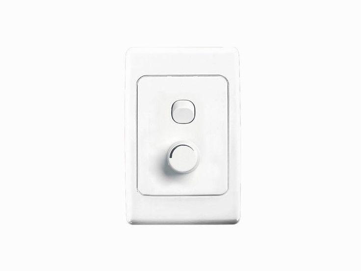 clipsal series light switch u0026 universal dimmer wall plate 450w 2032e450ud
