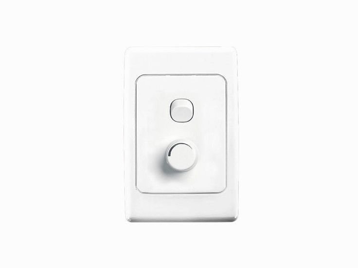Clipsal 2000 Series Light Switch & Universal Dimmer Wall Plate 450W 2032E450UD