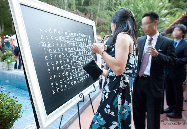 An Oversized Chalkboard Word Search