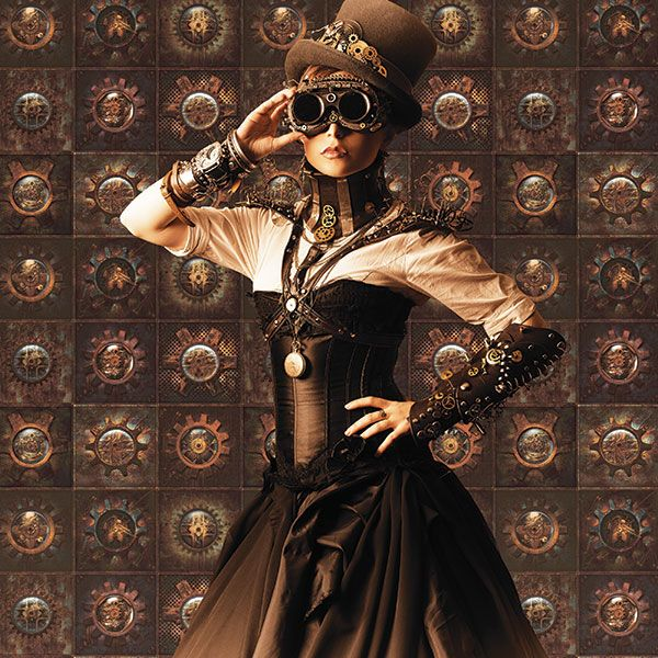 Amazing steampunk inspired wallpaper from the Steampunk Collection by Galerie - G56227